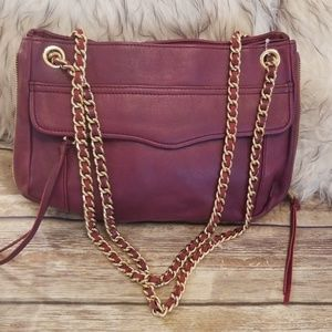 Rebecca Minkoff Raspberry/Plum Leather Bag